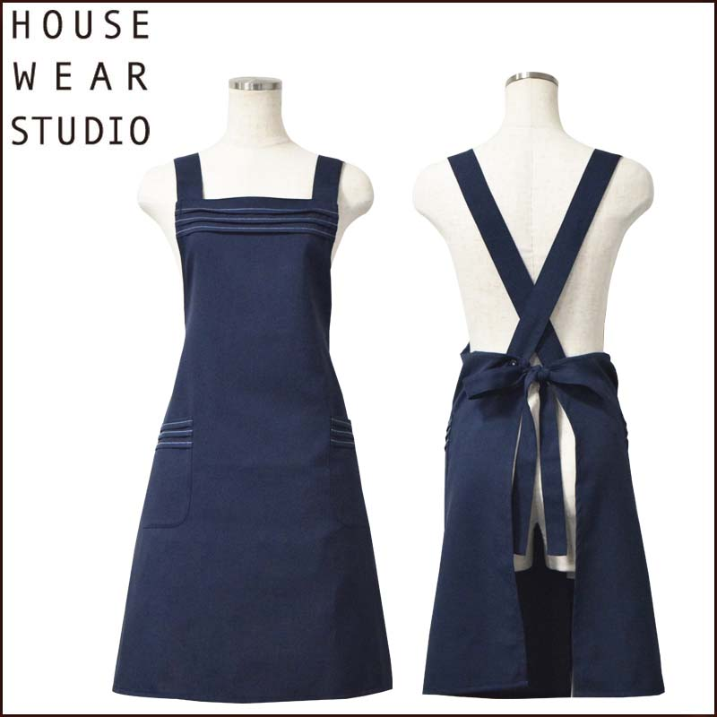 "【NEW】HOUSE WEAR STUDIO ユニステッチクロスエプロン <img src=""/banner_images/banner_0000000180.gif"">"